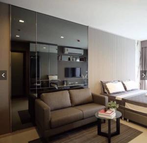 For RentCondoSukhumvit, Asoke, Thonglor : Rhythm Sukhumvit 36-38 Hot !! 12,000 baht Studio room, Size 24 sqm. Fully furnished.
