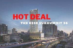 ขายดาวน์คอนโดสุขุมวิท อโศก ทองหล่อ : 🔥 Below Market Price🔥  The Esse Sukhumvit 36 1Bedroom Pls. Contact Miss Noon 064 554 2655