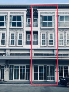For RentShophouseChengwatana, Muangthong : BH925 Commercial building for rent, 3.5 floors, open space, 3 rooms, 3 bathrooms, Metro Biz Town Chaengwattana 3 project for home office. Adjacent to the Thai Chamber of Commerce Road, connecting Chaiyapruek Road and 345 Road, near Pak Kret District Stati
