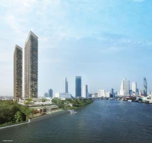 Sale DownCondoWongwianyai, Charoennakor : Condo for sale Chapter Charoennakorn Size 78.8 Sq.m 2 bed 2 bath price only 13.6 MB Location 02 River view 29th floor