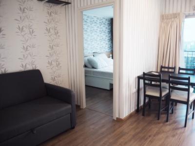 For RentCondoRamkhamhaeng, Hua Mak : For Rent U Delight @ Hua Mak, 40 sqm, 11th floor, 1 min, fully furnished, electric, full 13,000 baht