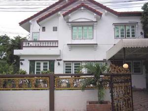 For RentHouseRamkhamhaeng,Min Buri, Romklao : 2-storey detached house with swimming pool in the house area of 130 square meters, 4 bedrooms, 3 bathrooms, tone, air conditioner, fully furnished, with a swimming pool in Ramkhamhaeng Road, rental price 50,000 baht per month.