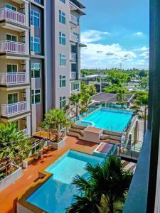 For RentCondoKorat KhaoYai Pak Chong : Condo for rent V-Condo Korat Vivid building, 6th floor, AOL-F63-2104003824.