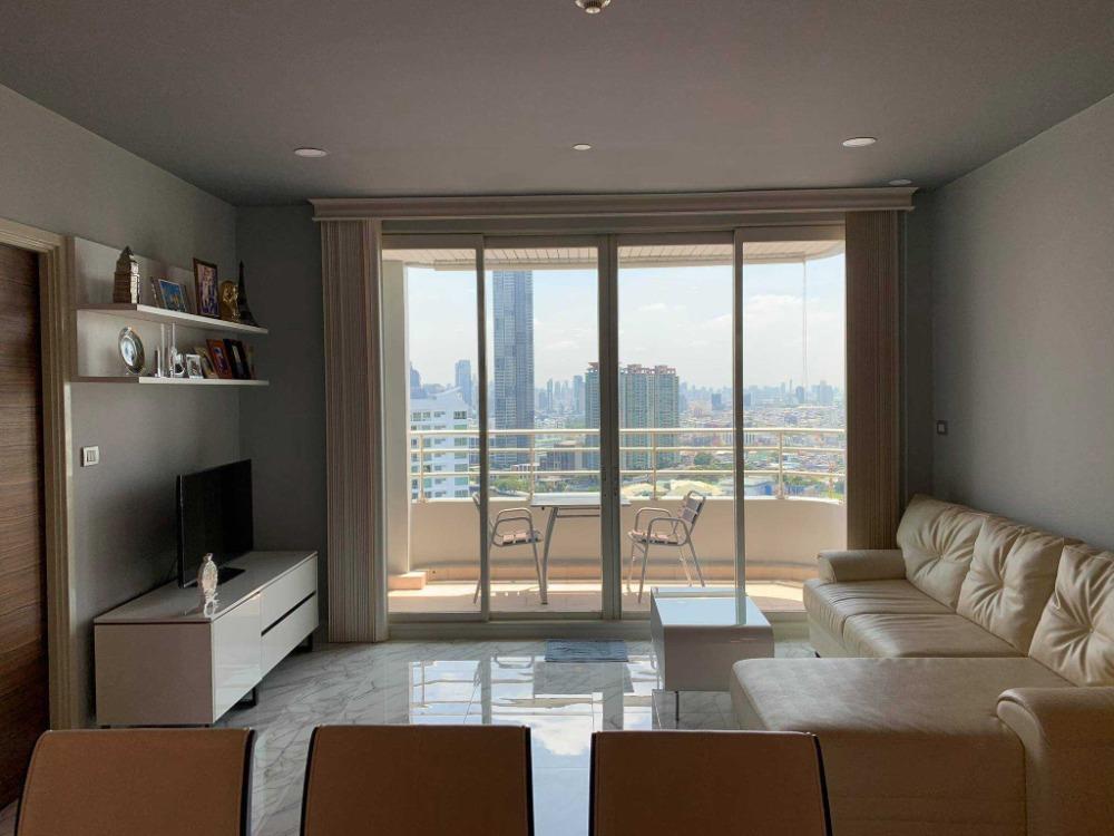 For RentCondoWongwianyai, Charoennakor : 3208-A😊 For RENT 2 bedroom for rent 🚄 near BTS Saphan Taksin 🏢 Watermark Chaophraya River Watermark Chaophraya River🔔 Area: 100.00 sq.m. 💲 Rent: 50,000 ฿ 📞O88-7984117, O65-9423251✅LineID : @sureresidence