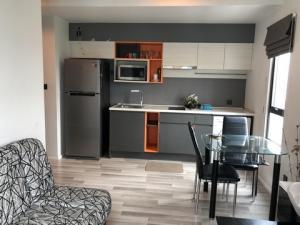 For RentCondoRama 2, Bang Khun Thian : Condo for rent, Ease Rama 2 (EASE Rama II), corner room, 2 bedrooms, 45 sqm., 6th floor, near Central Rama 2