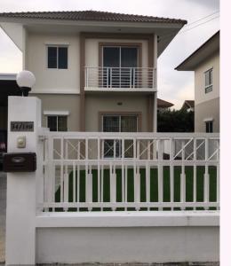 For RentHouseLadkrabang, Suwannaphum Airport : Twin house for rent, Lalin Village, Green Ville, Ring Road - On Nut - Suvarnabhumi.
