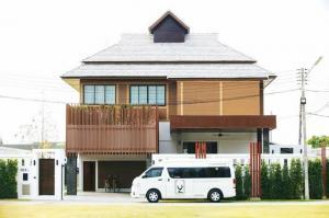 For SaleHouseChiang Mai : AE64139 Pool Villa for sale, special price, modern Lanna style, near the Christian German International School Chiang Mai.