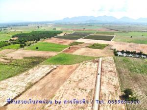 For SaleLandCha-am Phetchaburi : Land for sale, cash - installment, beautiful mountain view, close to the sea, just 20 minutes, suitable to buy, store or speculate a vacation home starting at 55 square meters.