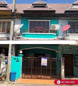 For SaleTownhouseBangbuathong, Sainoi : 2 storey townhouse for sale, Monawadee Park, Soi Wat Lat Pladuk Decorated, new additions, never existed Road project Near Central Westgate