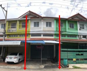 For SaleShophouseRangsit, Patumtani : 3.5-storey commercial building, Tharadol Buri Village, Rangsit-Nakhon Nayok Road, 19.1 square wa, 140 sq m. Cheap sale.
