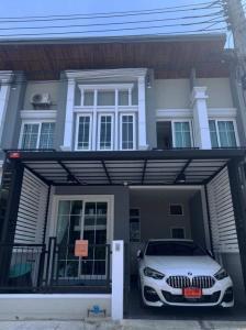For SaleTownhouseSamrong, Samut Prakan : For sale, townhome, Golden Town, Sukhumvit, Bearing station, very beautiful, good price.