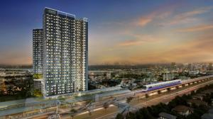 Sale DownCondoSamrong, Samut Prakan : Aspire Erawan Prime, a condo next to BTS Chang Erawan station. Furnished room And electrical appliances, starting price 1.79 million