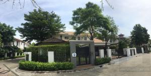 For RentHousePattanakan, Srinakarin : Luxury detached house for rent, 2 floors, 138 sq.wa. 516 sq m. Narasiri village. Pattanakarn - Srinakarin Soi Srinakarin 20