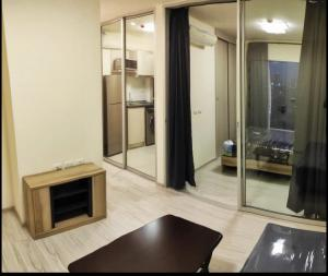 For RentCondoRattanathibet, Sanambinna : Condo for rent, Aspire Rattanathibet 2, size 31 sq.m., new room, fully furnished, use only 7,500 / month, near the Purple Line and the Pink Line, Sri Pornsawan Station