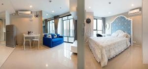 เช่าคอนโดพระราม 9 เพชรบุรีตัดใหม่ : ด่วนห้องว่างให้เช่า! Ideo mobi rama9 แบบ1ห้องนอนตกแต่งครบ