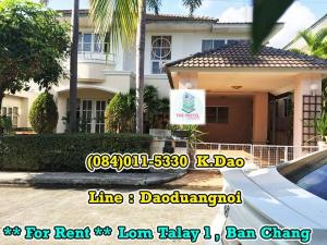 For RentHouseRayong : Lom Talay1, Ban Chang For Rent with Furniture Rental Fee 15,000 Baht