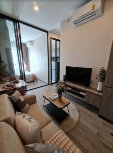 For RentCondoOnnut, Udomsuk : 🔥🔥Hot Deal! 🔥🔥 For rent, Knightbridge Prime Onnut, Sukhumvit 77, 27 sqm., 18th floor, beautiful view, 1 bed 1 bath near BTS On Nut [Code: A205]