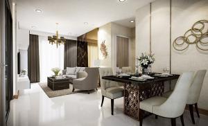 Sale DownCondoWongwianyai, Charoennakor : Condo Supalai Premier Charoen Nakhon @Sky train Gold Line Klong San, 84.5 sq.m 2 Beds 2 Baths 9th floor, Corner Unit