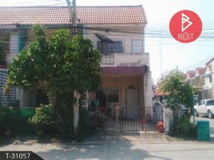 For SaleTownhouseSamrong, Samut Prakan : Urgent sale, 2-storey townhouse, Phra Pin Village 8, Soi 4, behind the corner of Thepharak Road, Soi Mangkee - Nakee, Samut Prakan