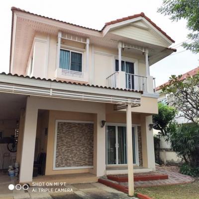 For SaleHouseLadkrabang, Suwannaphum Airport : 2-storey detached house, Perfect Place Suvarnabhumi Village