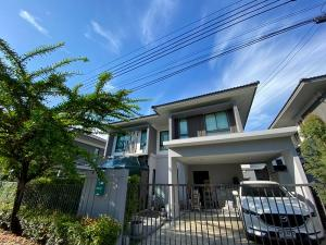 For SaleHousePattanakan, Srinakarin : 2 storey detached house for sale, area 51 square meters, 3 bedrooms, 3 bathrooms, partly furnished, along the road along the Kanchana ring, Bangna-On Nut ring, selling price 7.49 million baht