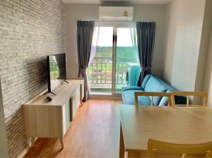 For RentCondoRattanathibet, Sanambinna : RT0146🔥🔥🔥 The cheapest in the building 🔥🔥 Condo for rent, Lumpini Ville Phra Nang Klao - Riverview (Lumpini Ville Pranangklao-Riverview), new room, no one has entered the SB furniture, the whole room has a washing machine. fabric
