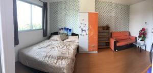 For SaleCondoSamrong, Samut Prakan : Sale very cheap, Lumpini Mix Condo Thepharak, studio room, 4th floor, only 1.1 cubic meters (S2088)