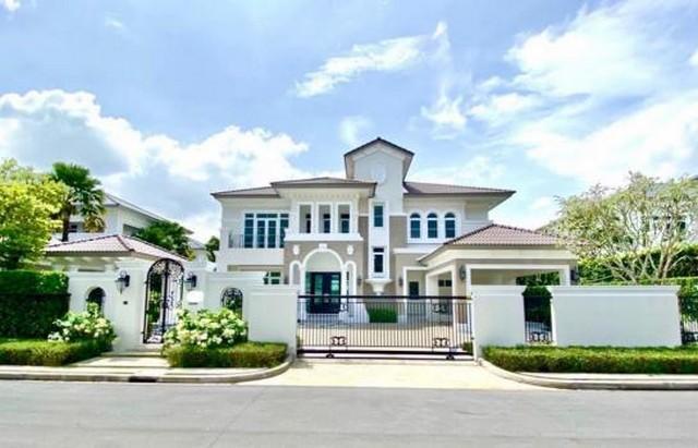 For SaleHousePinklao, Charansanitwong : Luxury mansion for sale in Ratchapruek area Ladawan Village Ratchaphruek - Pinklao The new house has never been in.