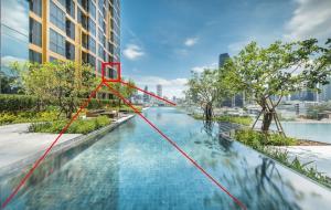 Sale DownCondoSukhumvit, Asoke, Thonglor : Oka Haus, beautiful room, pool view, 34.66 sq.m., only 3.99 million, free all, every expense, transfer date
