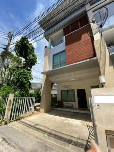 For RentTownhouseChengwatana, Muangthong : HR738 3-storey townhome for rent, Phatara Mo Town, Chaengwattana 19, fully furnished.