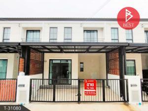 For SaleTownhouseSamrong, Samut Prakan : Cheap townhouses for sale Pruksa Pracha Uthit 2 Village, Phra Samut Chedi, Samut Prakan