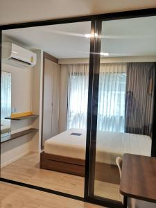 For RentCondoRangsit, Patumtani : For rent, Kave Condo (Cave Condo), Bangkok University, fully furnished with furniture and appliances Can carry the bag and move in