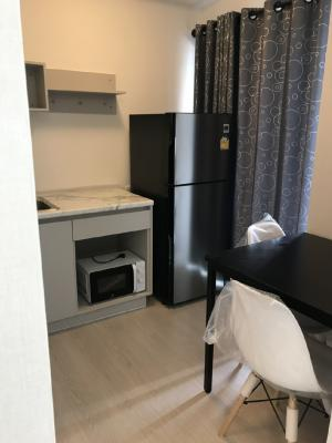 For RentCondoRamkhamhaeng, Hua Mak : Condo for rent near MRT, Lam Sali BTS station, only 300 meters, plum Ram 60 Interchange. Building A, ready to move in. Rental price includes common fees, contact 087-5654114 (Ball).