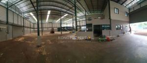 For RentWarehousePattanakan, Srinakarin : Warehouse for rent with office, area 1 rai, Soi Krungthep Kreetha, Saphan Sung District, Bangkok