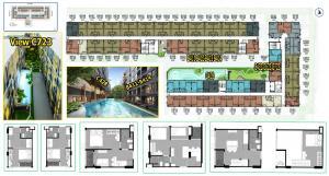 Sale DownCondoNakhon Pathom, Phutthamonthon, Salaya : Condo sales down, Cave Salaya, pool view room, high ceiling room, near Mahidol University, just 2 minutes on the main road, fully furnished.