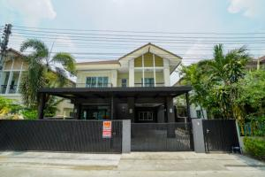 For SaleHouseRangsit, Patumtani : Newly renovated single house for sale, Sup Muen Saen 2 village, Pathum Thani, size 2, 52 sq m, 4 bedrooms, 3 bathrooms, on the main road, convenient to travel
