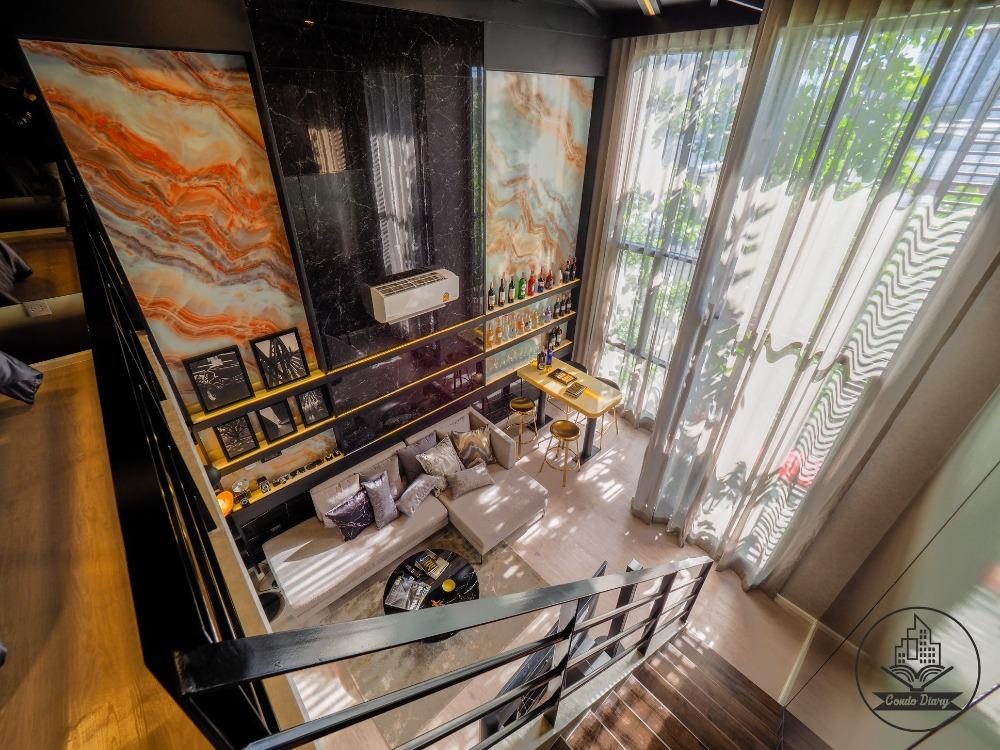 ขายดาวน์คอนโดรังสิต ธรรมศาสตร์ ปทุม : Modiz Launch ห้อง Verticle Suite แบบ Loft 2 ชั้น มีบันไดในห้อง มีให้เลือกหลายห้อง ราคาแรก