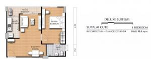 For SaleCondoKasetsart, Ratchayothin : Condo for sale Supalai Cute Ratchayothin - Phaholyothin 34 (48.5 corner room)