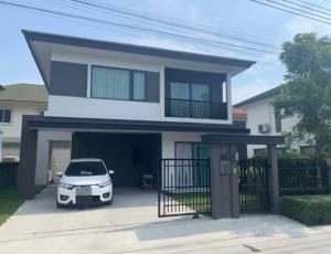 For RentHouseBangna, Lasalle, Bearing : House for rent, Bangna area, Km. 12, fully furnished, near Mega Bangna, near Suvarnabhumi Airport