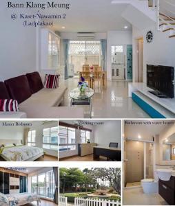 For RentTownhouseKaset Nawamin,Ladplakao : LBH0084 Townhome 3 bedroom for rent at Baan Klang Muang AP. (Ladplakhao 79)