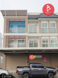For SaleShophousePattaya, Bangsaen, Chonburi : Commercial building for sale, 3 floors, 2 booths, room near the Ban Bueng market, Chonburi