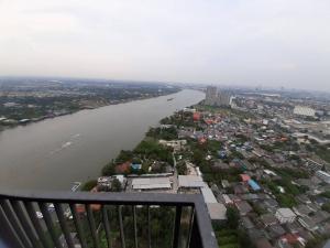 For RentCondoRattanathibet, Sanambinna : Condo for rent, High Rise, Chao Phraya River view, The Politan Aqua, with a luxury facility.