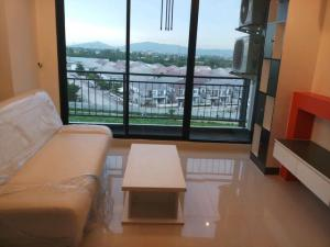 For RentCondoPattaya, Bangsaen, Chonburi : E122 For rent, The Time Condo, Sriracha, Ao Udom, 32 sq m, 1 bedroom, near Kasetsart University, Sriracha, Ao Udom.