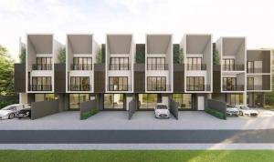 For SaleTownhouseRamkhamhaeng Nida, Seri Thai : Modern 3-step townhome for sale, Aura Light Project, Type A, Soi Ramkhamhaeng 94, 30.6 sq m., Usable area of 231 sq m, new house, special promotions, convenient transportation, support for trains Orange line (future)