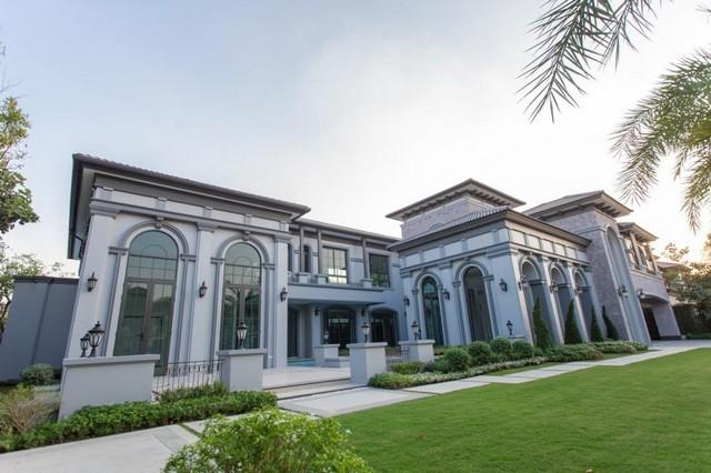 For SaleHouseNakhon Pathom, Phutthamonthon, Salaya : 2 storey detached house for sale with private pool Pinklao area, Phutthamonthon, THE GRAND, Pinklao