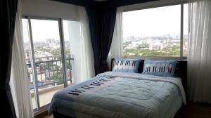 For SaleCondoRattanathibet, Sanambinna : Ready-to-move condo, corner room, window view, 2 sides, fully furnished