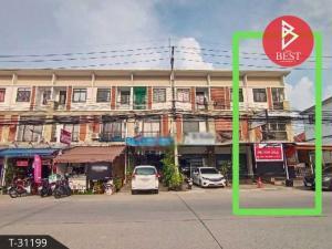 For SaleShophousePattaya, Bangsaen, Chonburi : 3-storey commercial building for sale, Family City Village, Chonburi, trading location