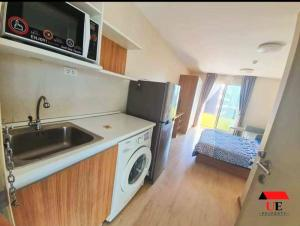 For SaleCondoOnnut, Udomsuk : (Price adjustment) Urgent sale, Elio Sukhumvit 64 Condo, 7th floor, beautiful room, fully furnished, near BTS Punnawithi, near expressway