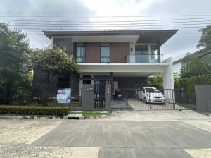 For SaleHouseLadkrabang, Suwannaphum Airport : Single Detached House for Sale: Manthana Village On Nut - Ring Road 4 (0646654666)