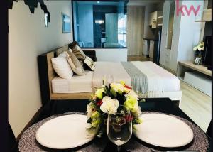 For SaleCondoPattaya, Bangsaen, Chonburi : Special price, Ladda Plus Condominium Sriracha, furniture room, electrical appliances, complete transfer, one price